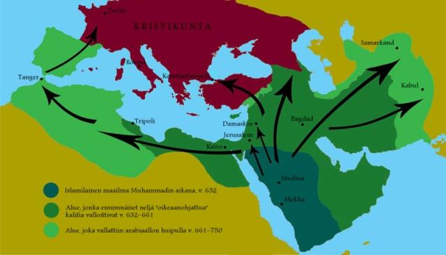 Jihadin ensimmäinen suuri aalto: arabit, v. 622–750