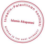 Israelin–Palestiinan konflikti. Klikkaa ja lue uusi artikkeli!
